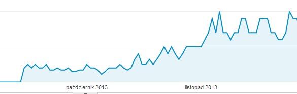 Systematycznie prowadzony blog na stronie