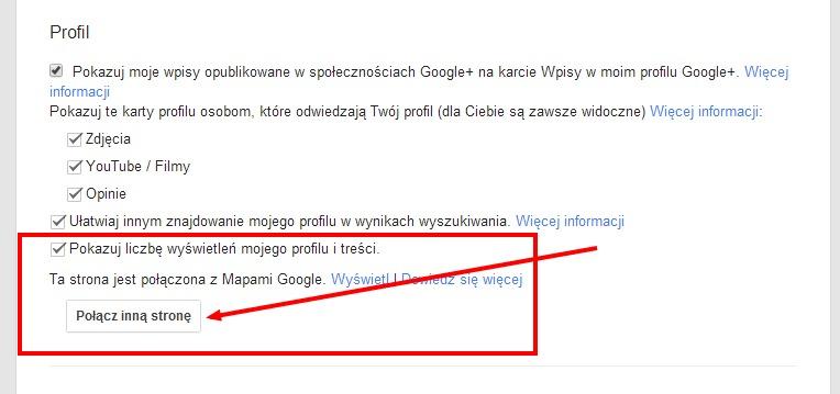 Łączenie wizytówki Google Maps ze stroną Google Plus