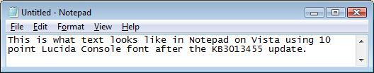 Czcionka bez aktualizacji KB3013455