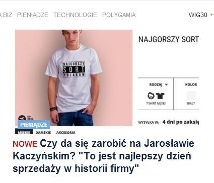 Koszulkowo.com na stronie głównej Gazeta.pl