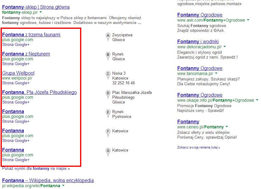 Wyniki lokalne Google to nie tylko informacje i firmy
