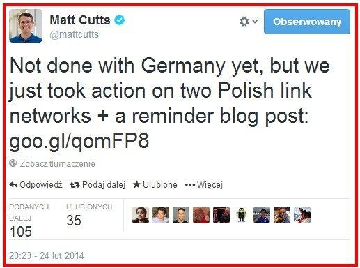 Google karze polskie strony!