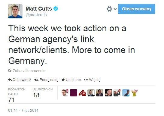 Matt Cutts potwierdza ręczne działania przeciw spamowi w Niemczech