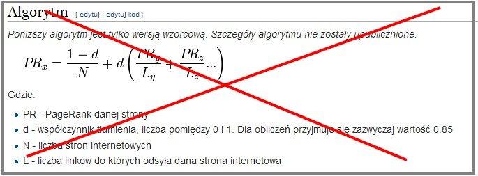 Teoretyczny algorytm Page Rank