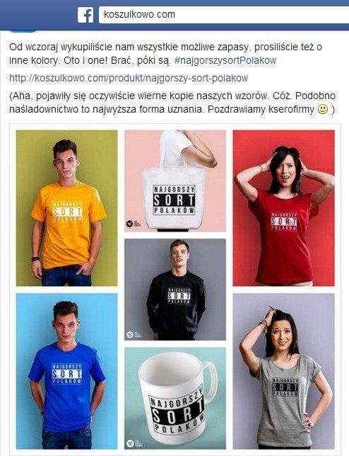 Najgorszy sort Polaków w koszulkowo.com